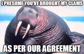 Walrus Meme - walrus hungers imgflip