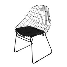 chaise en chaise en métal maisons du monde