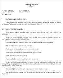 Hotel Desk Clerk Job Description Desk Clerk Job Descriptionoffice Clerk Job Description Junior