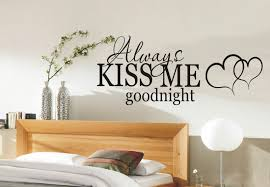 always kiss me goodnight romantic wall art sticker wall art decal