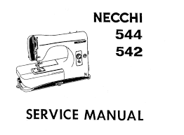 necchi lydia 542 544 instruction book and service repair manual