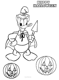 Kids Halloween Coloring Pages Printable Donald Duck Coloring Pages For Kids Cool2bkids