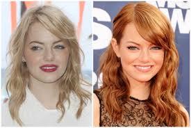 emma stone natural hair 15 stars who fake their natural hair color the hollywood gossip