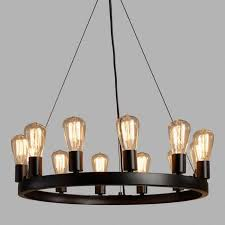 9 Bulb Chandelier 12 Light Edison Bulb Chandelier World Market