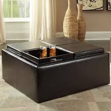 Rolling Ottoman With Storage by Amazon Com Homelegance Contemporary Storage Ottoman With Four