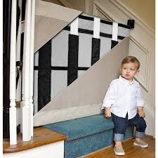 Baby Gate For Banister And Wall The Stair Barrier Wall To Banister Indoor Outdoor Safety Gate Black