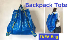 diy ikea hack リュックサック トート backpack reusable shopping