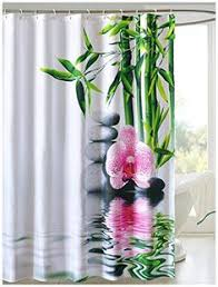 Orchid Shower Curtain Dodou Green Bamboo Printed Shower Curtain Fabric Waterproof