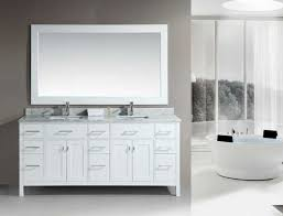 Bathroom Double Vanity Cabinets Large Size Lofty Design White - Bathroom vanities with tops at home depot