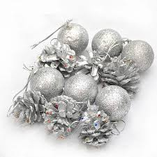 interesting silver ornament tree decoration
