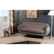 canapé tissu taupe canapé fixe confortable design au meilleur prix canapé fixe 3