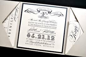 tri fold wedding invitations miranda wedding invitation suite with vintage luggage tag look