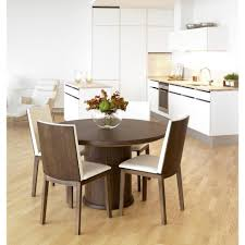 furniture round expandable dining table modern kitchen table