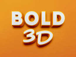 bold 3d text effect graphicburger