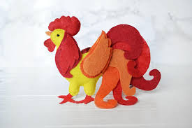 rooster ornament feltrooster feltwall