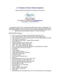 Resume Samples For Network Engineer by 10 Network Engineer Resume Templates
