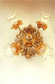 due effe ceiling lamps graven wood plafoniera fiorella 4l