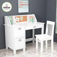 Kidkraft Pinboard Desk With Hutch And Chair Kidkraft 26704 Children S Wood Study Desk Chair W Side