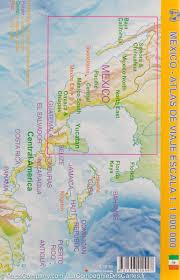 map of mexico yucatan region pocket travel atlas mexico itm mapscompany