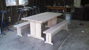 Wooden Picnic Tables With Separate Benches 6 U0027 Picnic Table With Detached Benches Unfinished