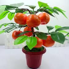2017 home decor fruit orange apple lemon tree emulate bonsai