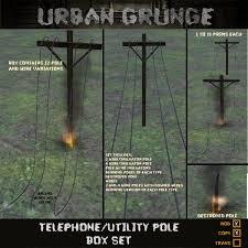 second marketplace telephone utility pole set sale