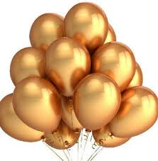 gold balloons gold balloons 12 inch thick 3 2g helium balloons
