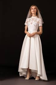 high low wedding dress temperley bridal retro inspired wedding dress with centered raised
