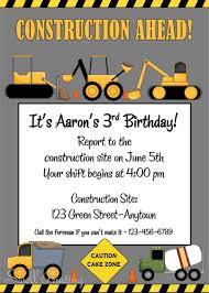 design construction birthday invitations free printable plus boy