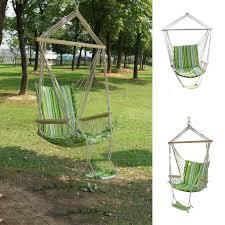 Swinging Patio Chair Ipree Outdoor Canvas Swing Hammock Leisure Hanging Chair Garden