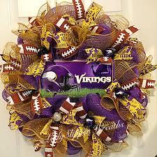 minnesota vikings home decor deco mesh wreath purple gold wreath minnesota vikings wreath