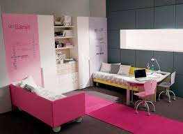 modern minimslit pink and grey nuance of the teen room decor