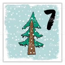 christmas advent calendar hand drawn elements and numbers winter