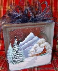 How To Decorate Glass Blocks Merry And Bright Christmas Reindeer Decal For Your Glass Block