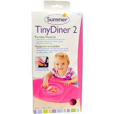 summer infant tiny diner 2 pink portable placemat 1 placemat