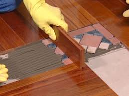 Laminate Floor Steps How To Install A Mixed Media Floor How Tos Diy