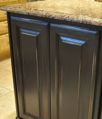 black distressed kitchen island painted kitchen island reveal evolution of style