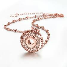 plated rose gold necklace images 2018 christmas passion honey 18k rose gold plated jewelry index jpg