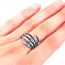 men hand rings images Edglifu men ring black vintage punk skeleton rings stainless steel jpg