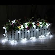 20 led solar powered lotus flower outdoor string lights solar