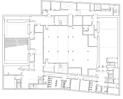 Concert Hall Floor Plan White Concrete Cultural Centre By Drdh Nestles A Norwegian Harbour