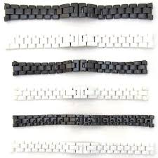 white ceramic bracelet images New for chanel watch strap ceramic bracelet black white band 14mm jpg
