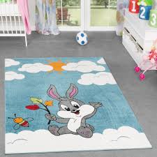 Kids Room Rugs by Funny Small Bunny Blue And White Kids Rug Design Ideas Decor Crave