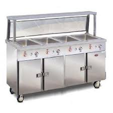 electric steam table countertop food warming equipment steam table 4 pan portable with heated