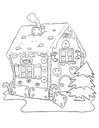 gingerbread house coloring pages kids learn color