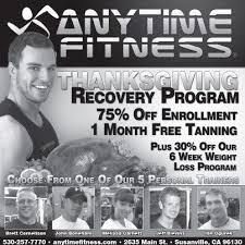 business spotlight anytime fitness thanksgiving program