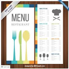 sample party menu template colorful falling leaves thanksgiving