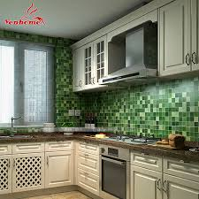 Wallpaper Designs For Kitchens Aliexpress Com Buy 10m Pvc Mosaic Wall Paper Modern Self