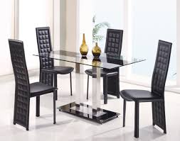 dining room trendy unbelievable black dining table set round