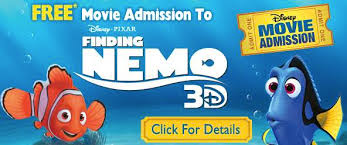 movie deal 2 free tickets finding nemo 3d faithful